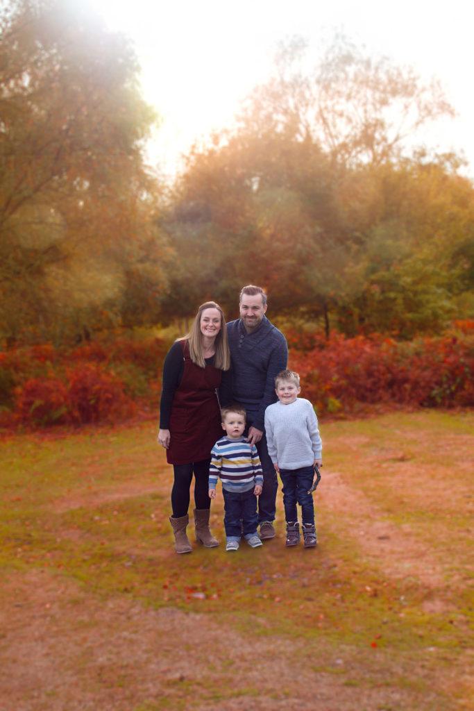 Autumn family portrait sutton coldfield