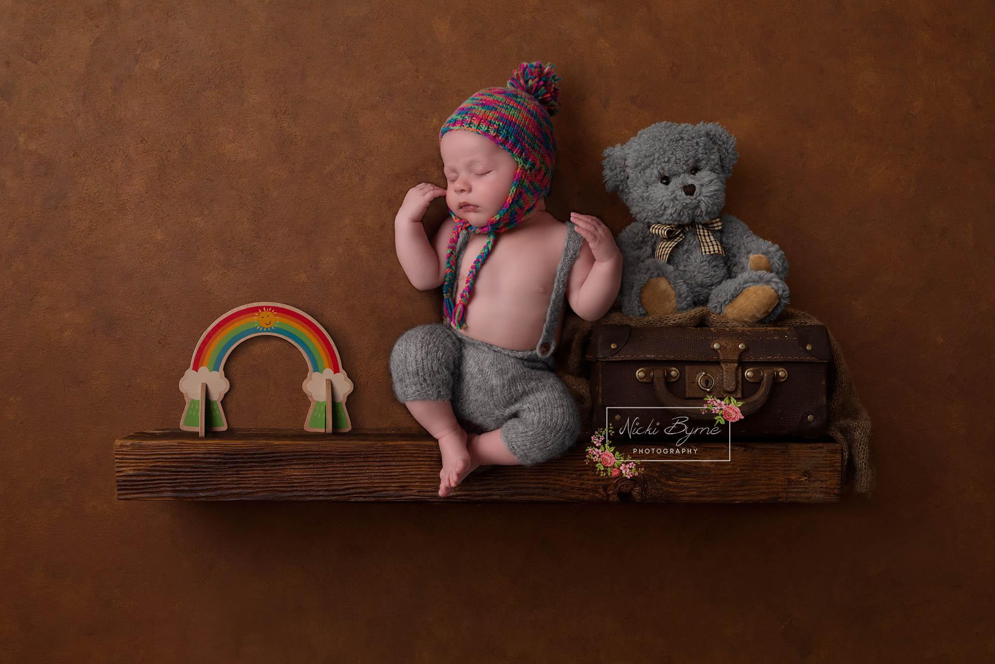 Rainbow Baby newborn photographer sutton coldfield